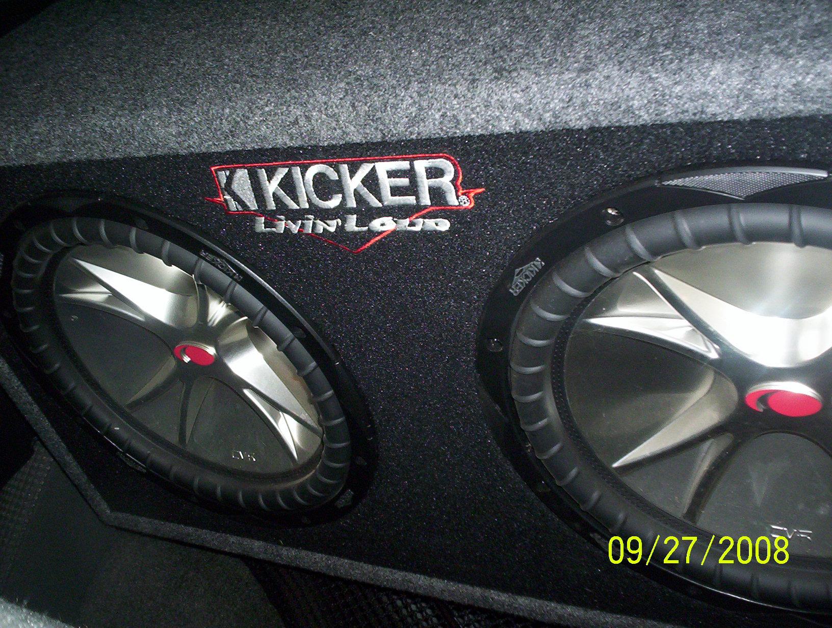 92 2008 Kicker Cvr 2 12 Subs 1600 Watt Powerbass Amp Further 1 Ohm Subwoofer Wiring Additionally 4 Cvr10