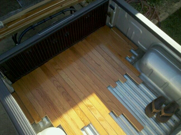 Wooden bed surface nissan frontier forum for Hardwood floors tacoma