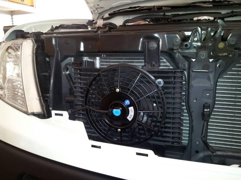 D Trans Cooler Fan Installed