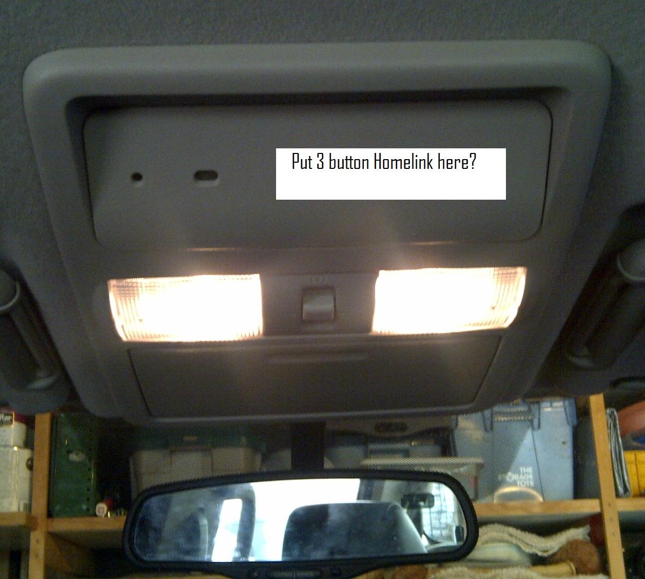 Overhead Maplight Console Removal Homelink Install