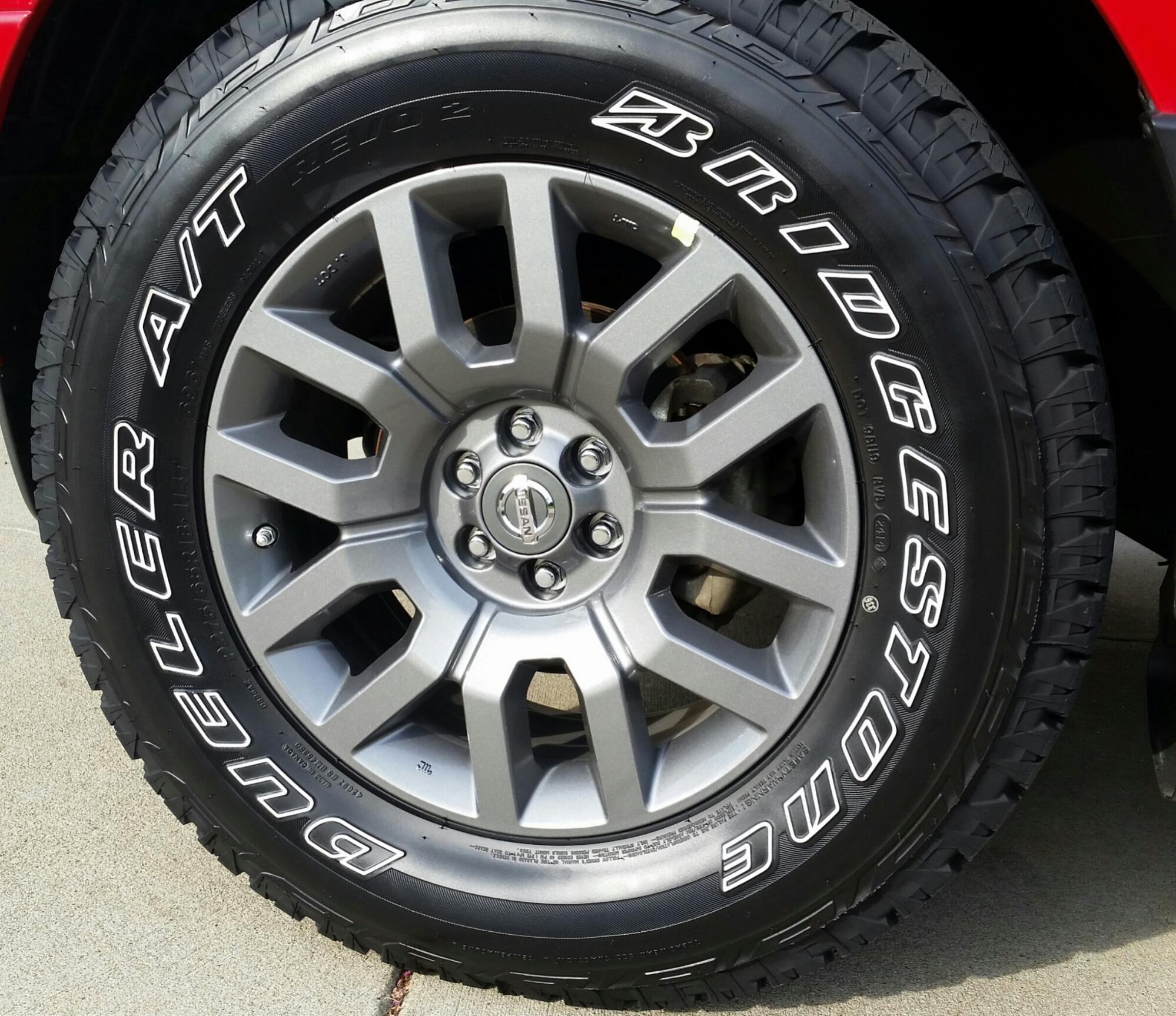 OEM Charcoal 18s and 275 65r18 Dueler A Ts Nissan Frontier Forum
