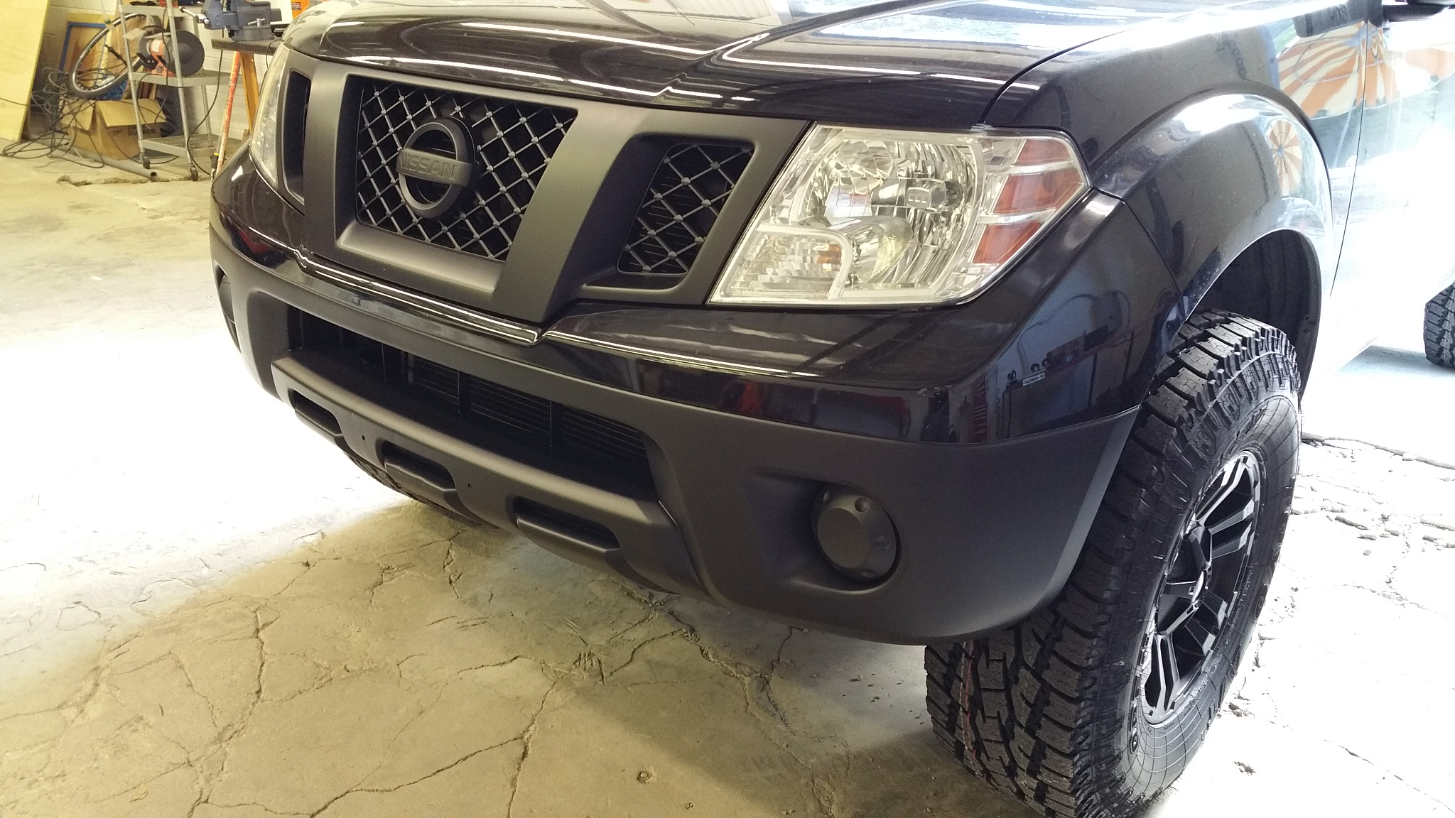 Black Out Front Grill And Bumper Nissan Frontier Forum