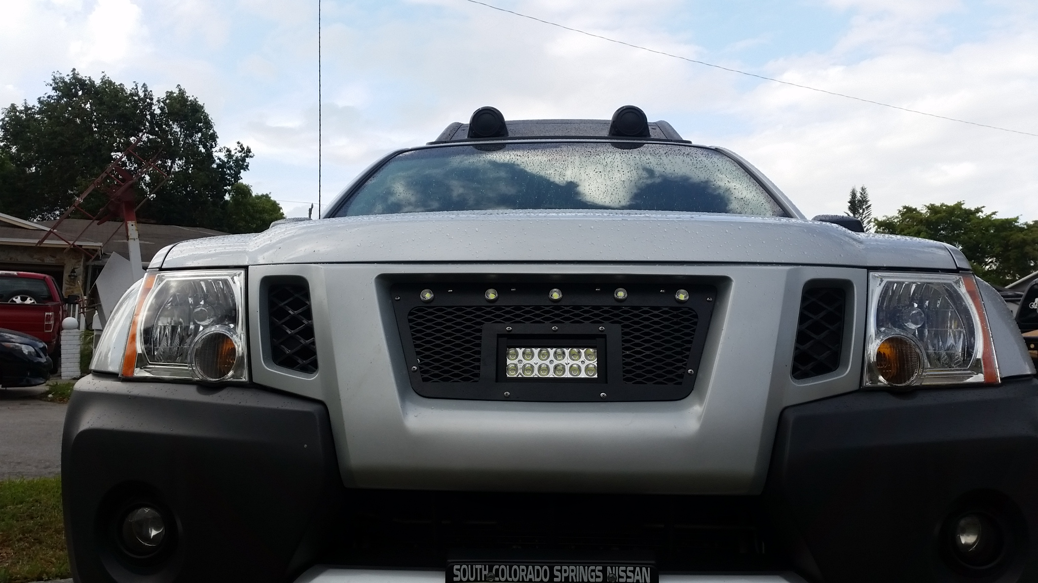 led driving lights on the grill nissan frontier forum led driving lights on the grill