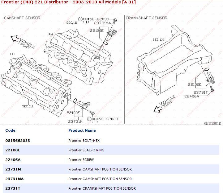 Cam Sensor Replacement Nissan Frontier Forum