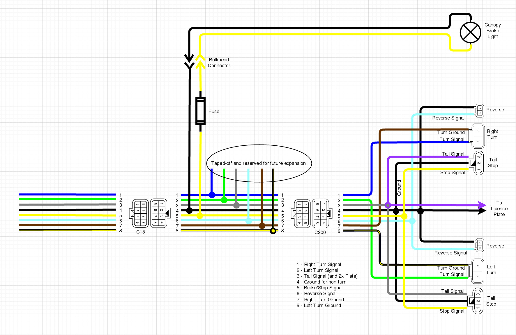 Wiring Up The Canopy Brake Light Nissan Frontier Forum Diagram Click Image For Larger Version Name Brakelight