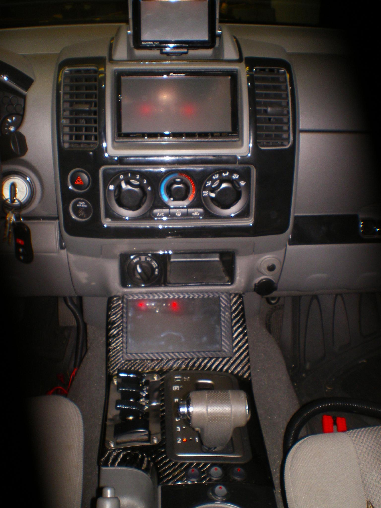 Custom carbon fiber center console nissan frontier forum vanachro Images