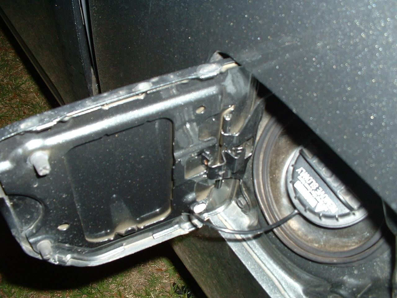 D Fuel Door Clip Clip on Nissan Frontier