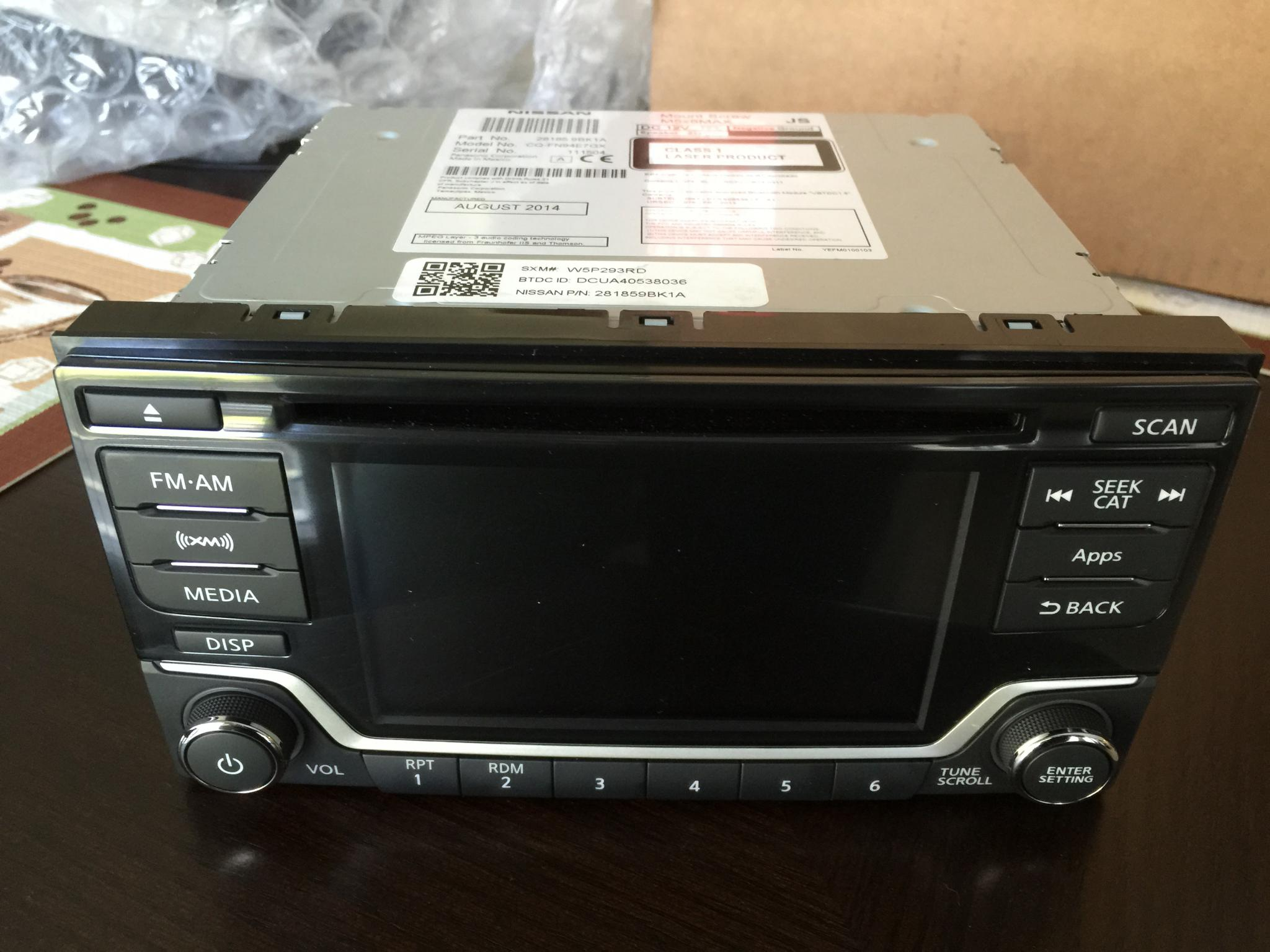 D Sv Oem Navigation Swap  pleted Display Radio Front View on 24 pin connector