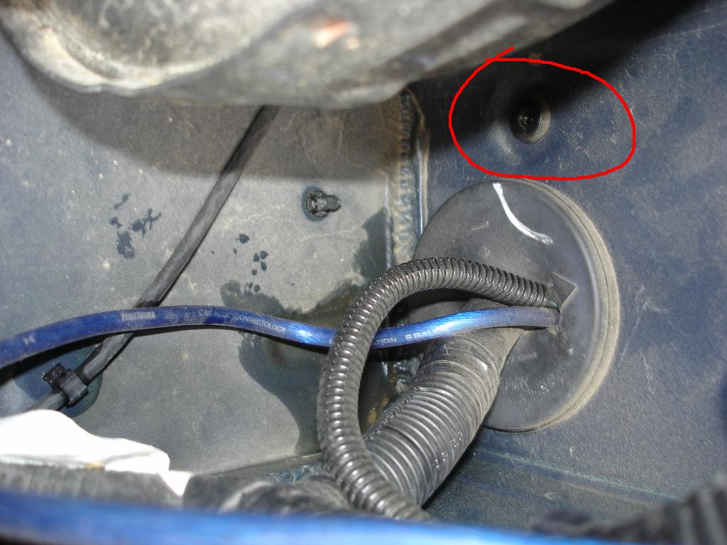 How do I get a wire through the firewall Nissan