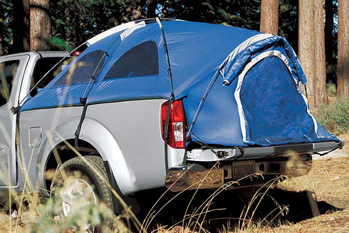 Click image for larger version Name fro_acc_lg_bed_tent.jpg Views 7990 Size 145.9 & Donu0027t laugh.. anyone bought the bed tent? - Nissan Frontier Forum