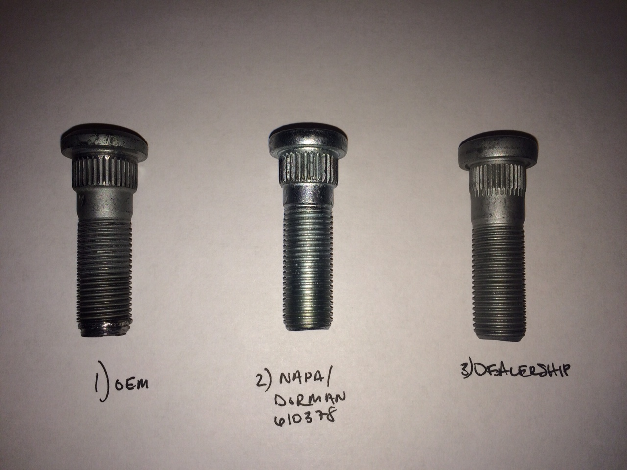 Threads: M12-1.25 Replacement Wheel Stud Length: 42mm Serrated Stud