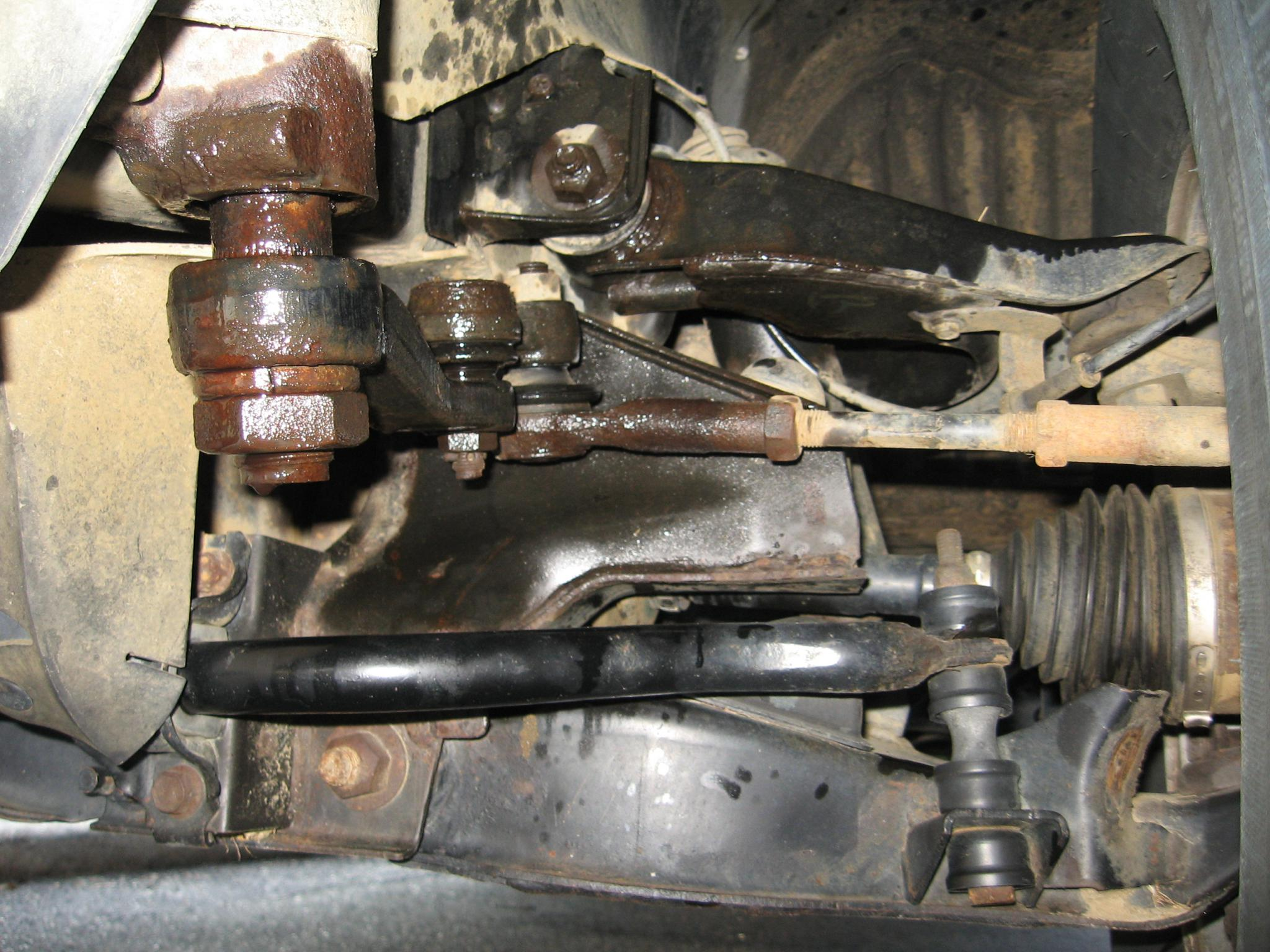Something up front is leaking! Steering related, i think ...