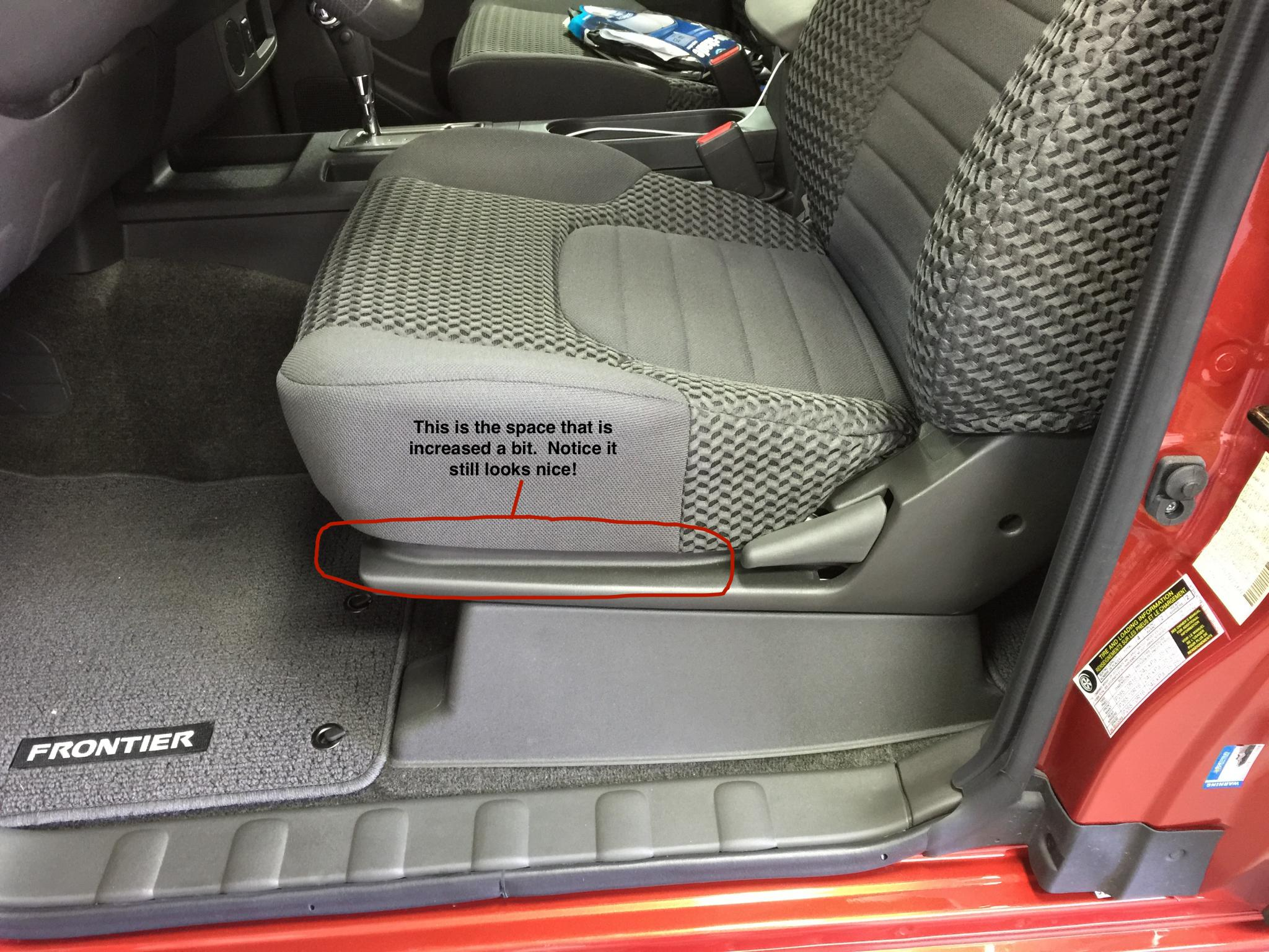 2015 Frontier Sv How To Raise The Front Seat Cushion Height