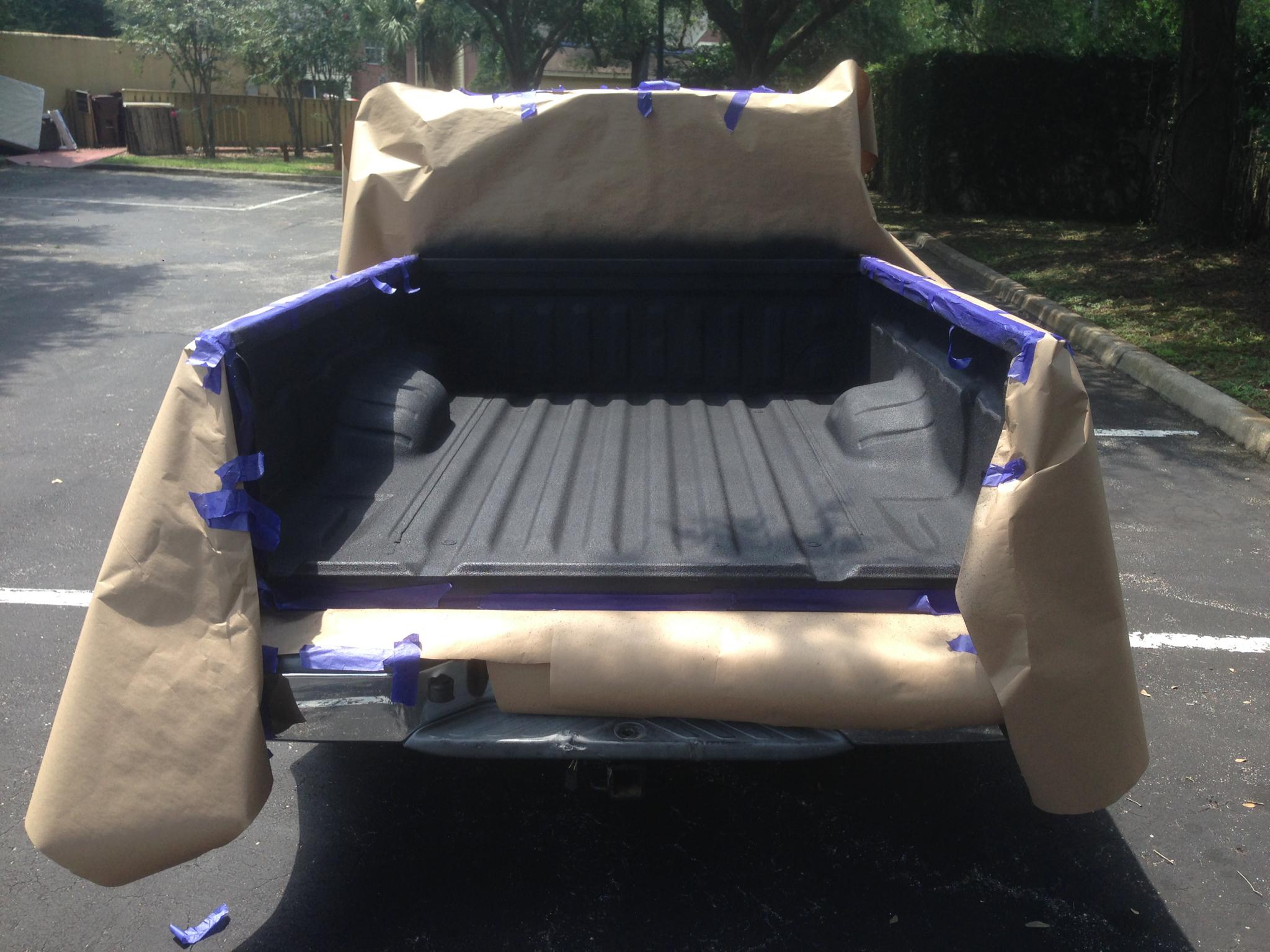 spray on bedliner - diy - nissan frontier forum