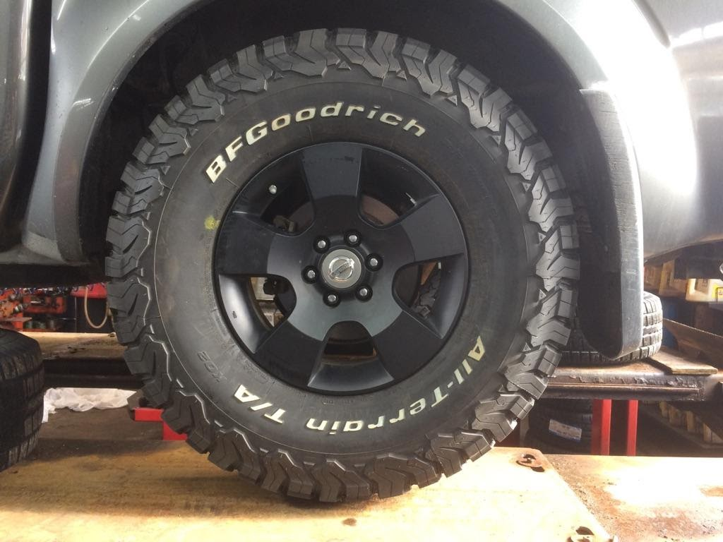 Bfg Truck Tires >> 2005 Frontier DCSB 285/75R16 BFGs Stock Wheels No Lift THEY FIT!!!!! - Nissan Frontier Forum