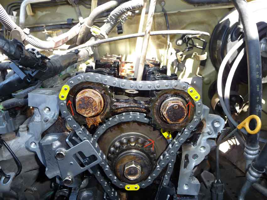 New Timing Chain Pics 4cyl Need Confirmation Nissan Frontier Forum