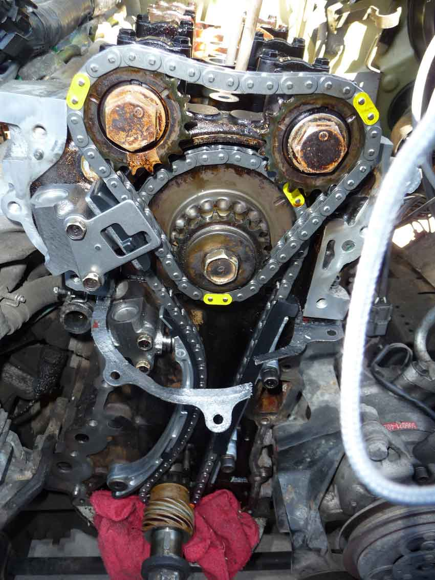 nissan frontier timing chain diagram