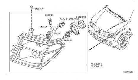 Headlight Bulb Retaining Locking Ring Nissan Frontier Forum