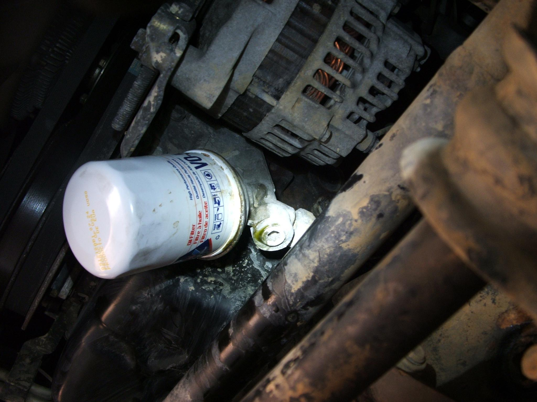 nissan xterra oil filter location