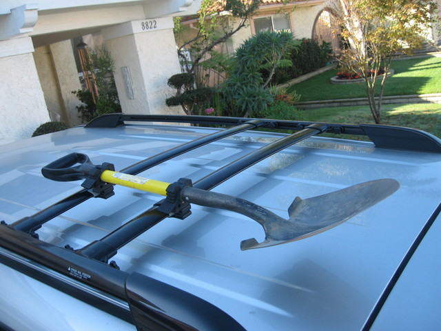 Mounting A Shovel On My Roof Rack Nissan Frontier Forum