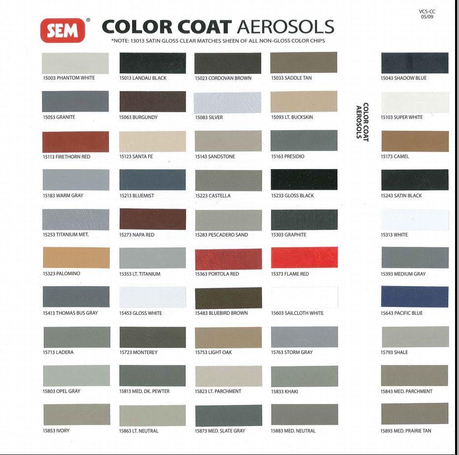 Nissan interior color codes