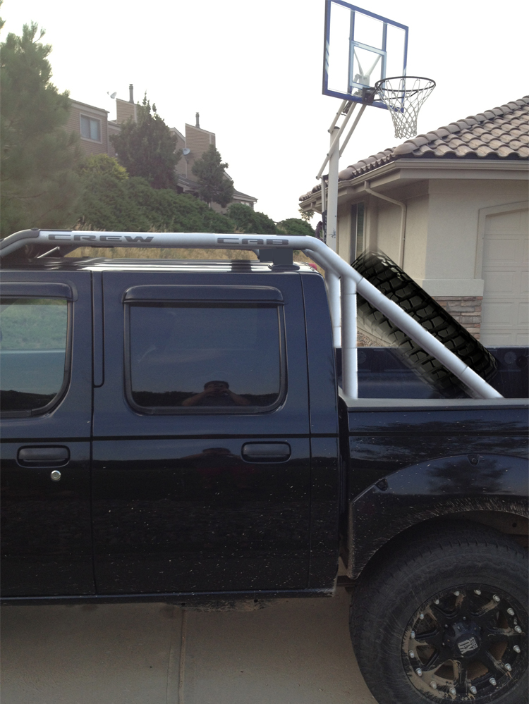 roll cage bars connected to stock roof rack nissan frontier forum. Black Bedroom Furniture Sets. Home Design Ideas