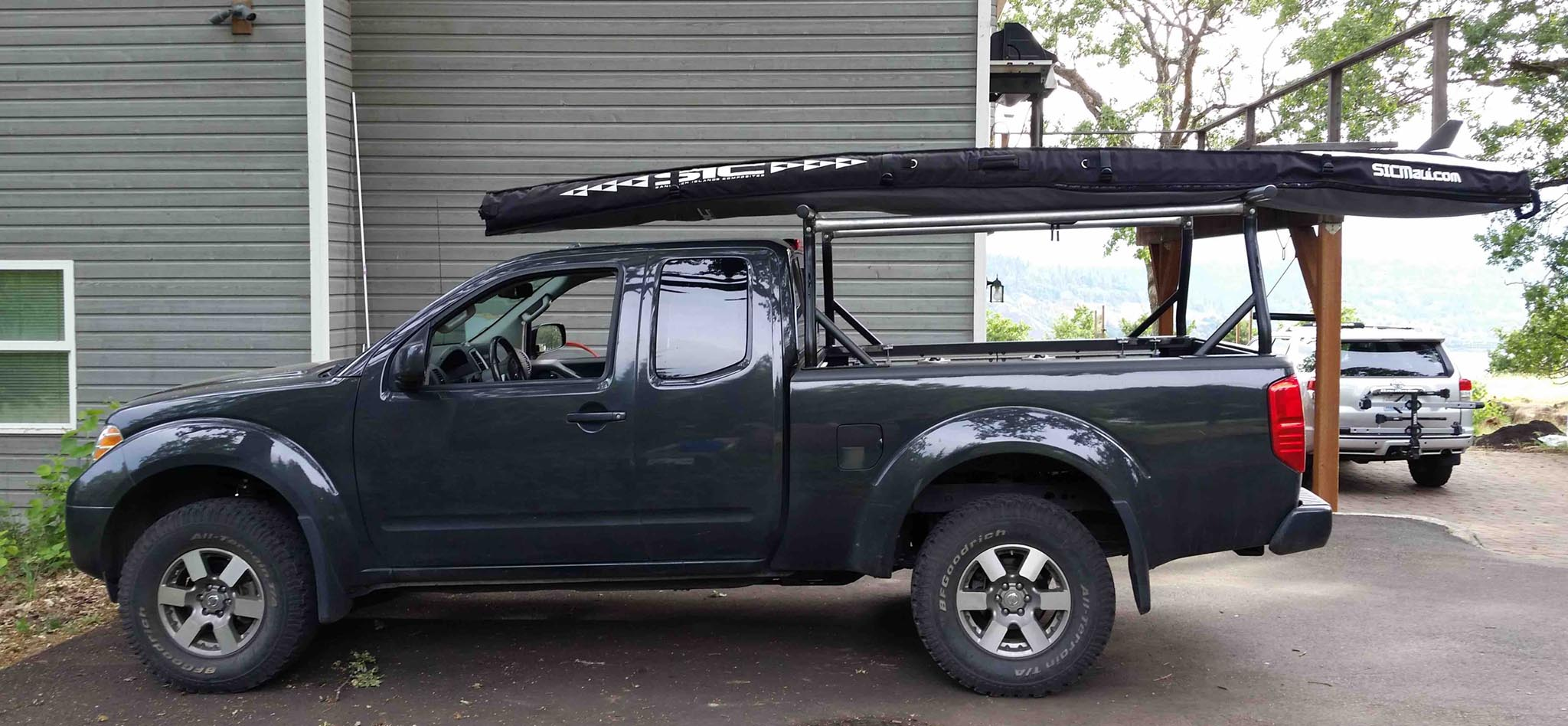ladder kayak sup surfboard rack nissan frontier forum. Black Bedroom Furniture Sets. Home Design Ideas