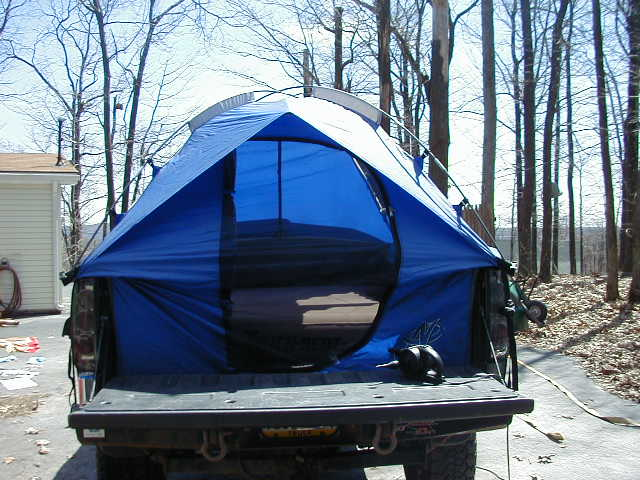 Click image for larger version Name tent 3. & Bed tent w/ air mattress -u003e $120 - Nissan Frontier Forum