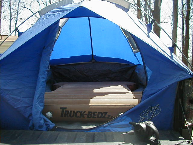 ... Click image for larger version Name tent 4. & Bed tent w/ air mattress -u003e $120 - Nissan Frontier Forum