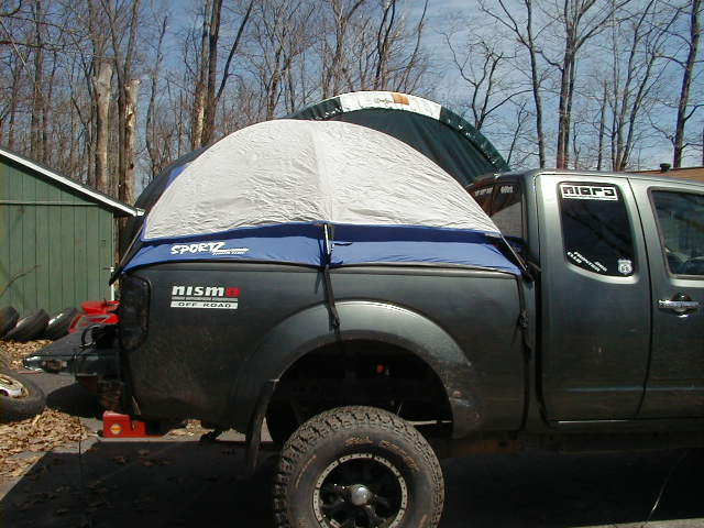 this is rats truck not mine. heres some pics of what they look like & Nissan Truck Tent Question - Page 2 - Nissan Frontier Forum