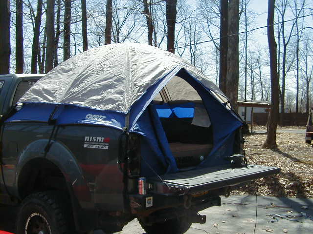 ... Click image for larger version Name tent 7.JPG Views 7207 Size & Bed tent w/ air mattress -u003e $120 - Nissan Frontier Forum
