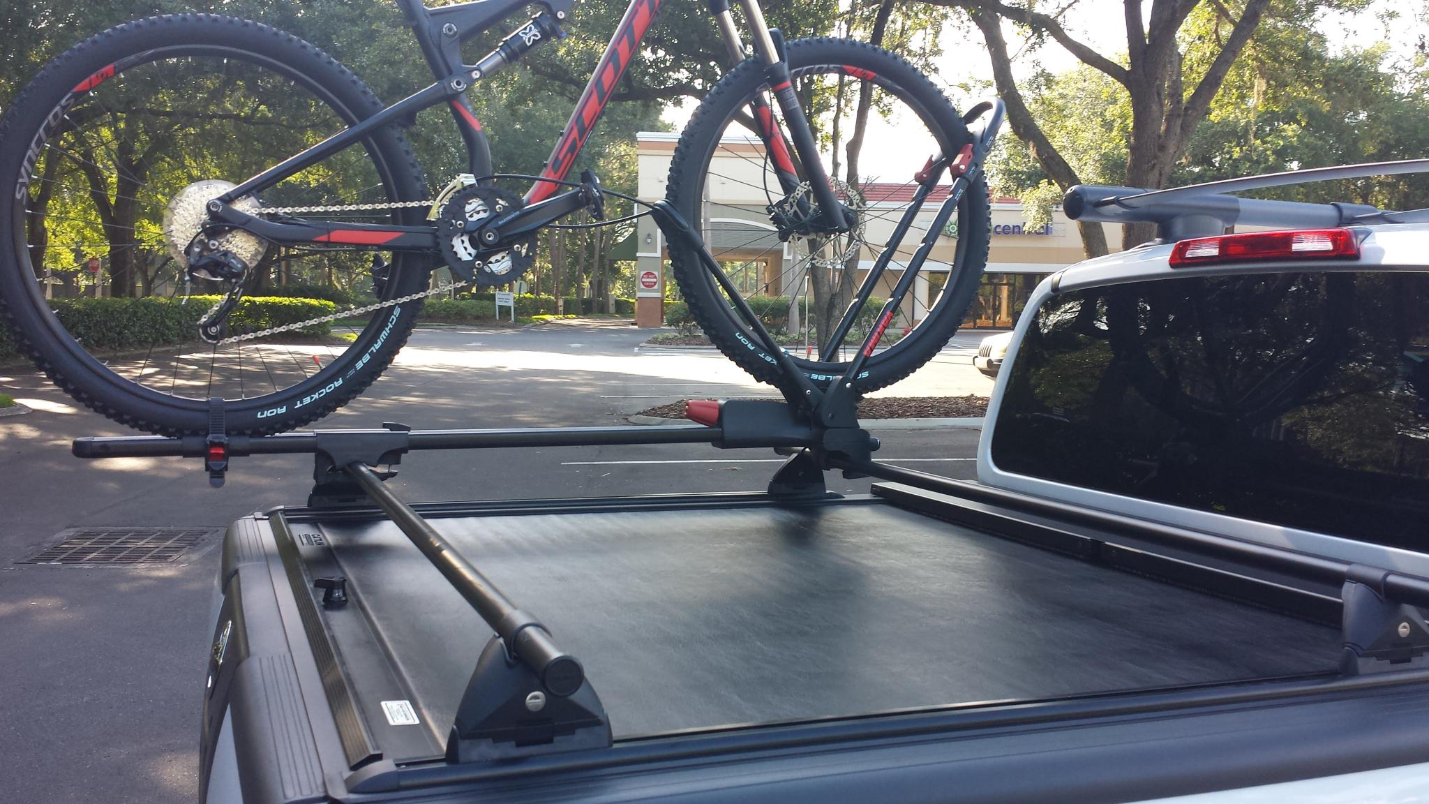 Nissan Frontier Forum - View Single Post - Thule Aero Bars mounted on truck bed